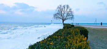 Kaltes Wetter-Frontseite Stockfoto