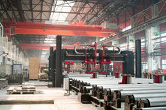 Kaltwalzende Abteilung in der Fabrik Stockbilder