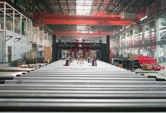 Kaltwalzende Abteilung in der Fabrik Lizenzfreies Stockfoto