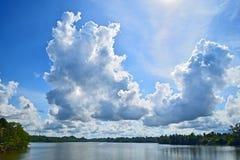 Kalu甘加, Kalutara,斯里兰卡 库存照片