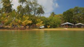 Kalu Ganga river in Sri Lanka, travelling by boat stock video footage