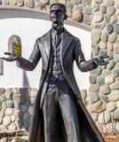 Kaluga region Rosja, Marzec, - 2019: Zabytek nowator Nikola Tesla i naukowiec zdjęcie royalty free