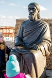 Kaluga region Rosja, Marzec, - 2019: Zabytek Sri Aurobindo zdjęcie royalty free