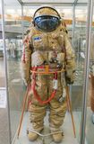 Kaluga, Russia, September 17, 2017: Russian astronaut spacesuit in Kaluga space museum Royalty Free Stock Photos