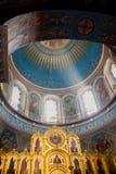 Kaluga Ryssland - Januari 29, 2017 Den kyrkliga domkyrkan Kaluga för helig Treenighet Arkivfoto