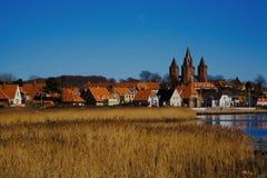 Kalundborg. Beautiful City of Kalundborg seeing from the port Royalty Free Stock Photos