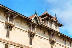 Kalupur Swaminarayan Mandir, hinduska świątynia w starym mieście Ahmedabad, Gujarat -, India Zdjęcia Stock