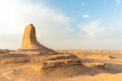 Kalut, désert de Dasht-e-Lut Images stock