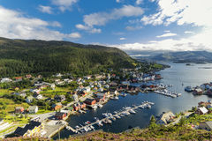 Kalvåg is a village in Bremanger Municipality in Sogn og Fjorda. Kalvåg is a village in Bremanger Municipality in Sogn og Fjordane county, Norway Royalty Free Stock Photo