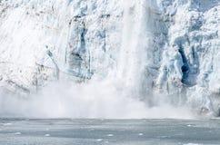 Kalva av Marguerite Glacier i Alaska #3 Arkivbilder