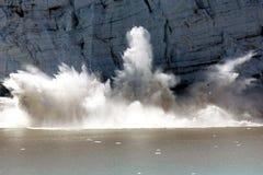 kalva glaciärimponerande föreställning Royaltyfria Foton