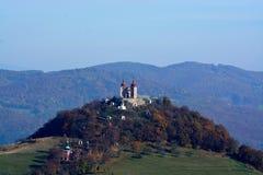 Kalvarienberg in Banska Stiavnica Stockbild