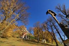 Kalvarienberg in Banska Stiavnica, Herbst lizenzfreie stockfotos