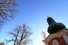 Kalvarienberg in Banska Stiavnica, Herbst lizenzfreies stockbild