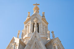 Kalvarienberg-Kirche Molfetta Puglia Italien lizenzfreie stockfotografie
