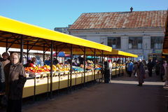 Kalvariju market stock image