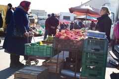 Kalvariju market Stock Photos