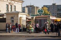 Kalvariju marknadsplats Arkivfoto