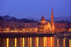 Kalvinistische Kirche in Budapest stockfotografie