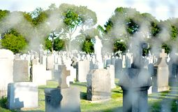 Kalwaryjski cmentarz Fotografia Royalty Free