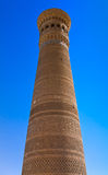 Kalyan, the biggest minaret of Bukhara, Uzbekistan Stock Photos