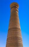 Kalyan, de grootste minaret van Boukhara, Oezbekistan Stock Foto's