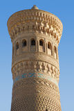 Kalyan Minaret antigo em Bukhara imagem de stock royalty free