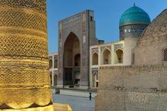 The Kalyan minaret in Bukhara, Uzbekistan stock images