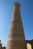 Kalyan minaret, stary miasteczko Bukhara, Uzbekistan, Jedwabnicza droga Zdjęcia Stock