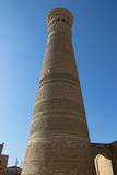 Kalyan Minaret, vieille ville de Boukhara, l'Ouzbékistan, route en soie photos stock