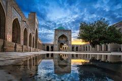 Kalyan Mosque in Bukhara, Uzbekistan. Inner courtyard of the Kalyan Mosque, part of the Po-i-Kalyan Complex in Bukhara, Uzbekistan stock image