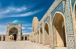 Kalyan Mosque i Bukhara, Uzbekistan royaltyfri foto
