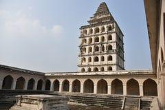 Kalyana Mahal alla fortificazione di Gingee o a Senji Fort, Tamil Nadu fotografia stock libera da diritti