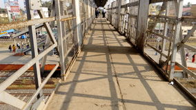 Kalyani järnväg över bron på kalyanien, Nadia, västra Bengal Royaltyfria Foton