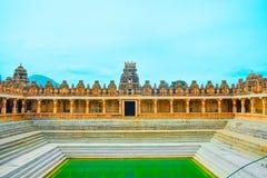 Kalyani or pushkarni in nandi temple Stock Image