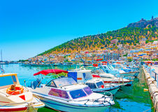 At Kalymnos island Royalty Free Stock Images
