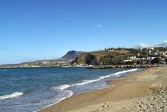 Kalyves beach in Crete island, Greece, Europe Stock Images