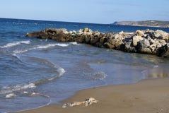 Kalyves beach in Crete island, Greece, Europe Stock Photo