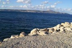 Kalyves-Strand in Kreta-Insel, Griechenland, Europa Lizenzfreie Stockbilder