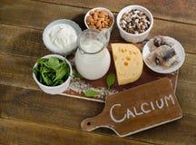 Kalzium Rich Foods Lizenzfreie Stockbilder