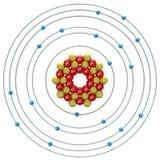 Kalziumatom auf einem weißen Hintergrund Stockfoto