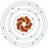 Kalziumatom auf einem weißen Hintergrund Lizenzfreie Stockfotos