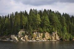 Kama-Bucht in Khokhlovka Dauerwelle kra Russland lizenzfreies stockbild