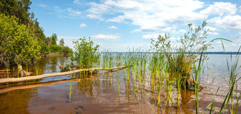 Kama river. Panorama Royalty Free Stock Image