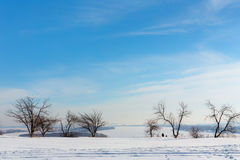 Kama river in winter Stock Photography