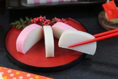 Kamaboko/pâte bouillie de  de fish†Photographie stock libre de droits