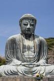 Kamakura Daibutsu. The Daibutsu (Large Buddha) in Kamakura, dating from 1252 stock images