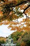 Kamakura Daibutsu in autunno Fotografie Stock Libere da Diritti