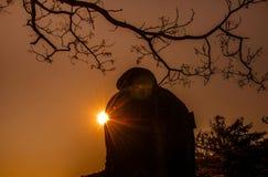 Kamakura Daibutsu Kotoku-in am Tempel Stockfotografie