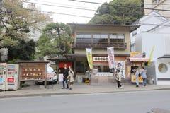 Kamakura is een stad in Kanagawa-Prefectuur stock foto's